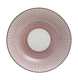 Assiette creuse Lunis - D 20,5 cm - Rouge