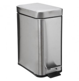 Poubelle rectangle - 5 L - Inox