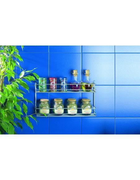 Etagère à épices 2 niveaux - Métaltex - Petit rangement de cuisine