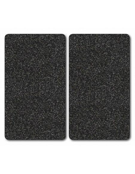 Lot de 2 protège plaques de cuisson - 30 x 52 cm - Granit