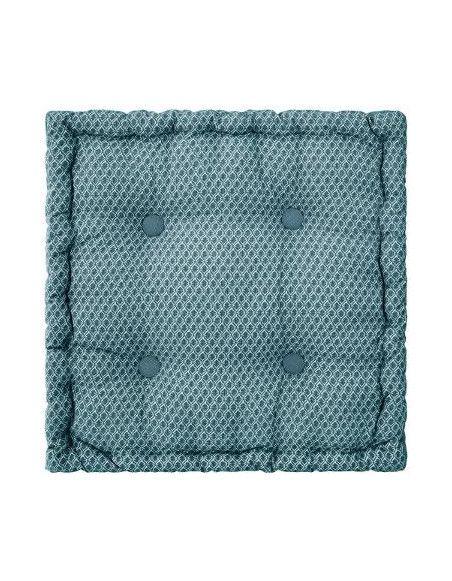 Coussin de sol Otto - 40 x 40 x 8 cm - Bleu