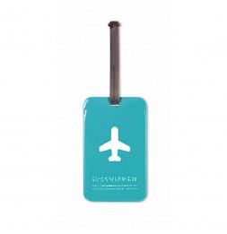 Etiquette de bagage - Bleu