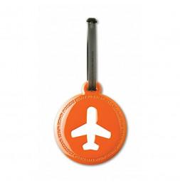 Etiquette de bagage ronde - Orange