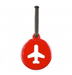 Etiquette de bagage ronde - Rouge
