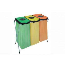 Eko-Thinks 3 supports sac poubelle - 95 x 45 x 90 cm - Couleur aléatoire