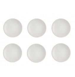 Lot de 6 assiettes plates Galaxy rondes - 27 cm - Grès