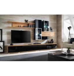 Ensemble meuble TV mural - ABW Manhattan - 300 x 45 x 180
