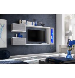 Ensemble meuble TV mural - ABW Galaxy - 235 x 30 x 95 cm - Gris