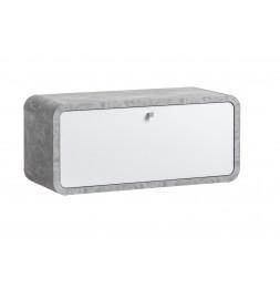 Armoire murale - WALLY TYP 06 - 80 x 32 x 35 cm - Gris et blanc