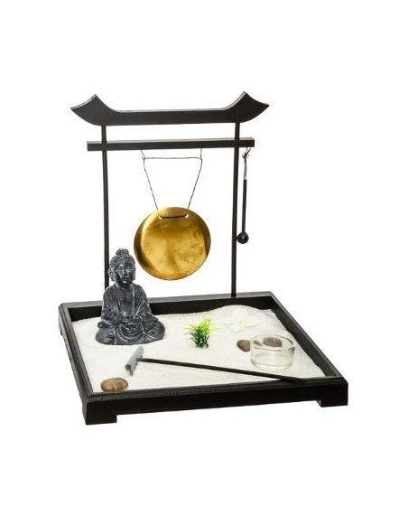 Jardin zen japonais - Objet de décoration avec accessoires et supports bougies