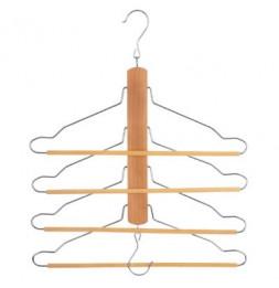 Cintre 4 en 1 pour chemises et pantalons - Rangement penderie