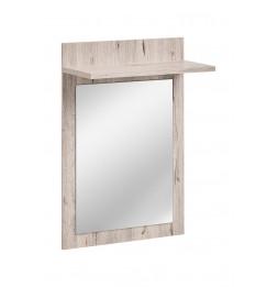 Miroir avec étagère - GUSTAVO - 60 x 25 x 90 cm