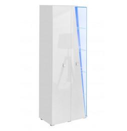 Armoire de rangement - Witrynawysoka Edge - 70 x 40 x 200 cm - Blanc