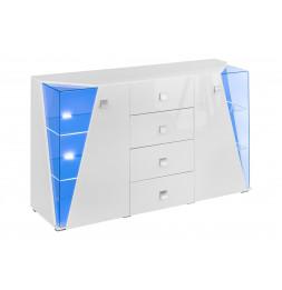 Commode de rangement - Buffet - SB Edge - 150 x 45 x 100 cm - Blanc