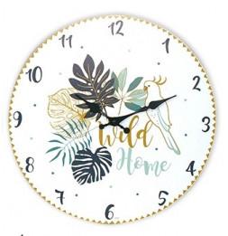 Horloge murale Wild Home - D 30 cm - Blanc
