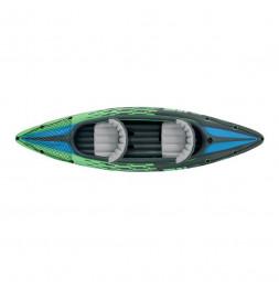Set kayak Challenger k2 avec rame et gonfleur - L 351 x l 76 x H 38 cm - Intex