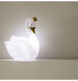 Veilleuse cygne La Dame Blanche - L 18 x l 18 x H 22 cm - Blanc