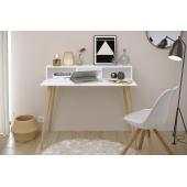 Bureau style scandinave - Gamme Norsk - l 100 x P 100 x H 75 cm - Blanc