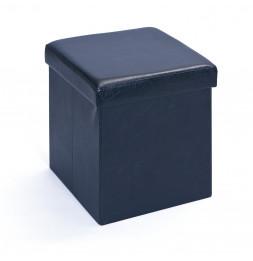Boîte tabouret pliable Setti - l 38 x P 38 x H 38 cm - Noir