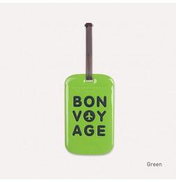 Etiquette de bagage - Bon voyage - Vert