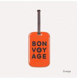 Etiquette de bagage - Bon voyage - Orange