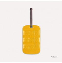 Etiquette de bagage customisable - Jaune