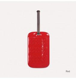 Etiquette de bagage customisable - Rouge