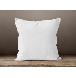 Coussin 40 x 40 cm en coton - PANAMA - Blanc