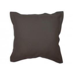 Coussin 60 x 60 cm en coton - PANAMA - Gris anthracite