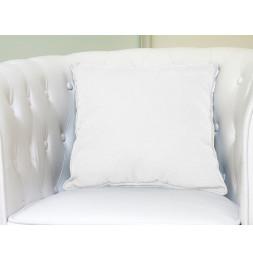 Coussin 60 x 60 cm en coton - PANAMA - Blanc
