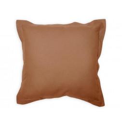 Coussin 60 x 60 cm en coton - PANAMA - Marron