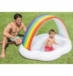 Piscinette arc en ciel - L 1,42 x l 1,19 x H 0,84 m - Intex