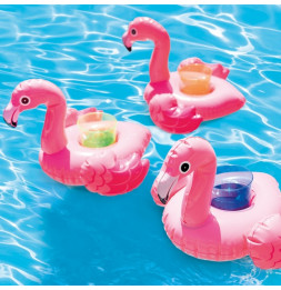 Set de 3 porte-verres flamant rose - L 33 x l 25 cm - Intex