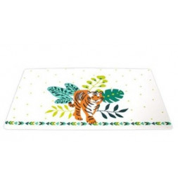 Set de table Tigre - 28 x 43 cm - Plastique - Blanc