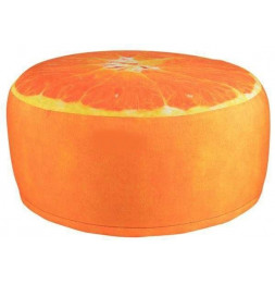 Pouf gonflable - Orange - D 58 cm x H 32,5 cm