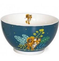 Bol Tigre en porcelaine - 480 ml - Bleu