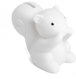 Tirelire Betty - Ecureuil - H 12 cm - Blanc