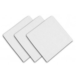 Lot de 3 serviettes de table 40 x 40 cm - ALIX - Polyester - Blanc