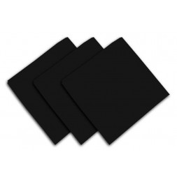 Lot de 3 serviettes de table 40 x 40 cm - ALIX - Polyester - Noir