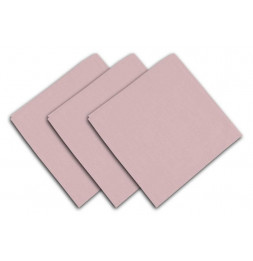 Lot de 3 serviettes de table 40 x 40 cm - ALIX - Polyester - Rose
