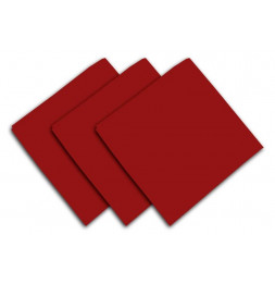 Lot de 3 serviettes de table 40 x 40 cm - ALIX - Polyester - Rouge
