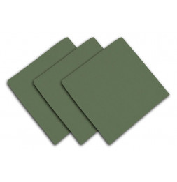 Lot de 3 serviettes de table 40 x 40 cm - ALIX - Polyester - Vert