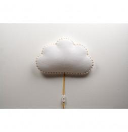 Applique nuage - Jaune