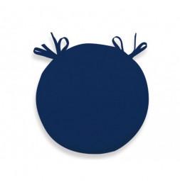 Galette de chaise bistrot Alix - D 40 x H 3 cm - Bleu