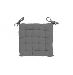 Galette de chaise capitonné Alix - L 40 x l 40 x H 5 cm - Gris clair