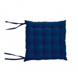 Galette de chaise capitonné Alix - L 40 x l 40 x H 5 cm - Bleu