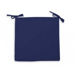 Galette de chaise imperméabilisée - L 40 x l 40 x 5 cm - Bleu