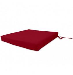 Galette de chaise imperméabilisée - L 40 x l 40 x 5 cm - Rouge