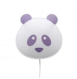 Applique panda - Violet