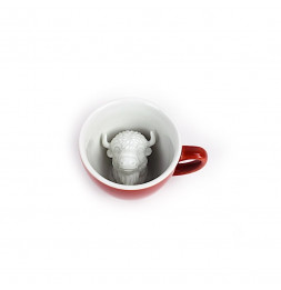 Tasse Creature Cups - Bison - 325 ml - Rouge